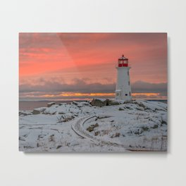 Peggys Winter Sunset Metal Print