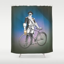 Every weekend I take the fixed gear to the farmers market for Vegan Artisan Granola. Shower Curtain