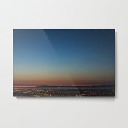 View over Lancaster, Morecambe & the Lake District Metal Print