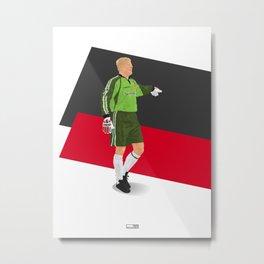 Peter Schmeichel - Manchester United goalkeeper  Metal Print