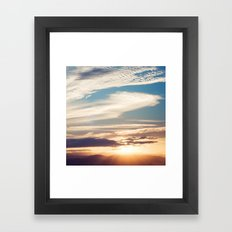 mountain sunset Framed Art Print