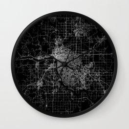 Tulsa map Oklahoma Wall Clock