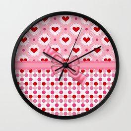 Fancy Hearts Wall Clock