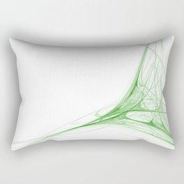 Fractal 41 Green Rectangular Pillow