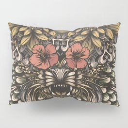 Tiger and flowers Pillow Sham
