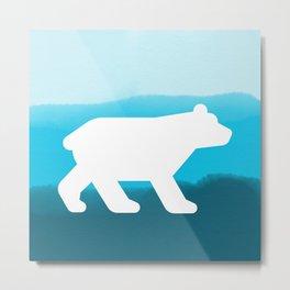Inverted Blue Bear - Wildlife Series Metal Print