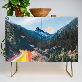 1960's Style Mountain Collage Credenza