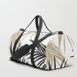 Gold Black Palm Leaves Dream #1 #tropical #decor #art #society6 Duffle Bag