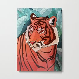 Tiger in the jungle Metal Print