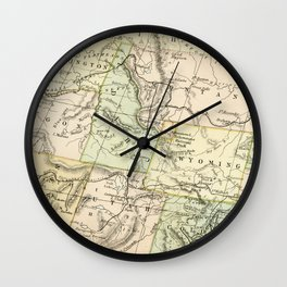 Vintage Map of the West Of The United States Wall Clock