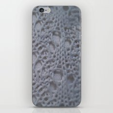 icy blue crochet cotton iPhone & iPod Skin
