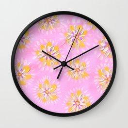 Tangerine Petal Rose Wall Clock