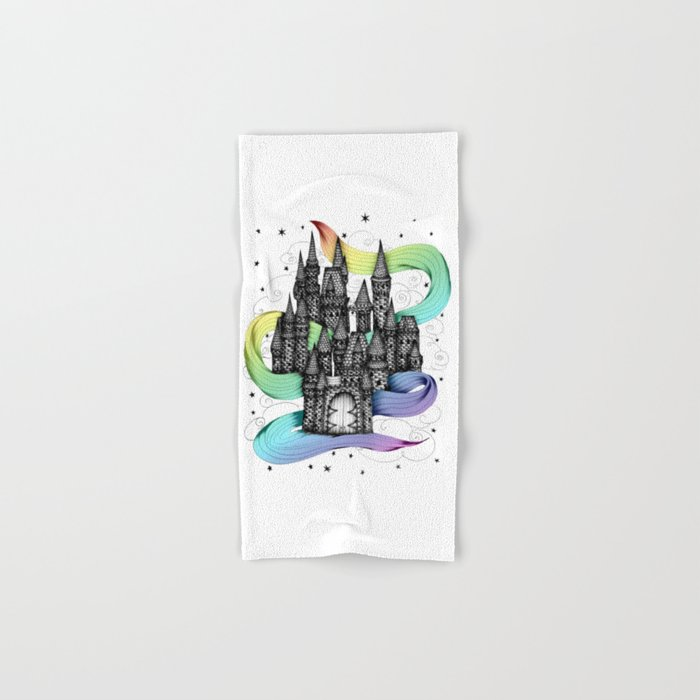 Super Magic Rainbow Dream Castle Hand & Bath Towel