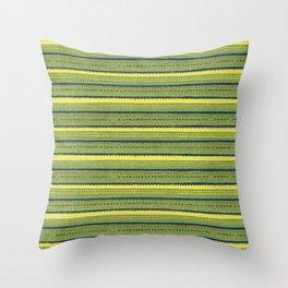 Vintage woodblock print of Japanese textile from Shima-Shima (1904) by Furuya Korin 206 Throw Pillow