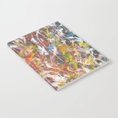 Abstract expressionist painting Notebook