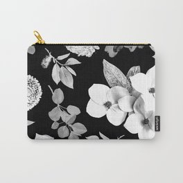 Night bloom - moonlit bw Carry-All Pouch