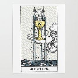 Modern Tarot Design - Ace Of Cups Poster