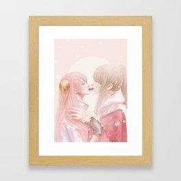 Cherry Kiss Framed Art Print