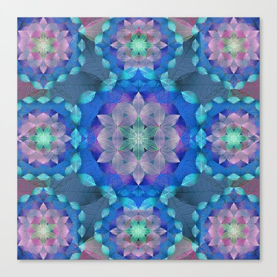 The Flower of Life - Leaf Pattern 2 Canvas Print
