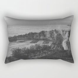 Gray Sky, Icy Lake (Chicago Winter Collection) Rectangular Pillow