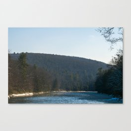 Icy Clarion River Canvas Print
