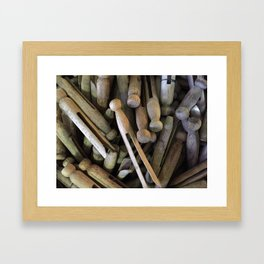 When Pins Were for Laundry, Not Images Framed Art Print