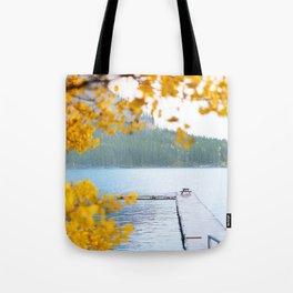 343. Minnewanka Lake under the snow, Banff, Canada Tote Bag