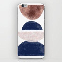 Semicircle Geometric II Art Print iPhone Skin