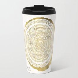 Douglas Fir – Gold Tree Rings Travel Mug