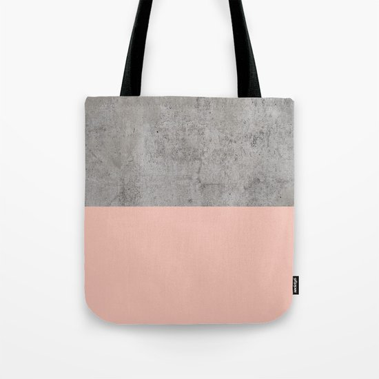 Pale Pink on Concrete Tote Bag