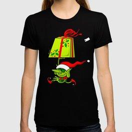 Christmas Elf Bringing a Gift T-shirt
