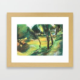 Garden Framed Art Print