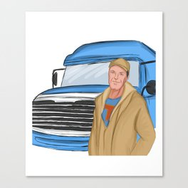 long-distance lorry driver truck driver freight forwarding logistics trucker Canvas Print