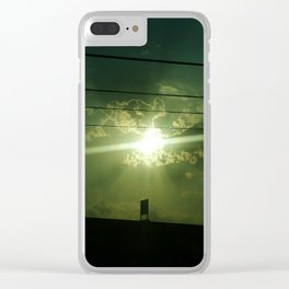 Highway Sunset Clear iPhone Case