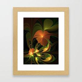 Fantasy Plant, Abstract Fractal Art Framed Art Print