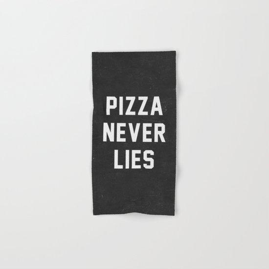Pizza Never Lies Hand & Bath Towel