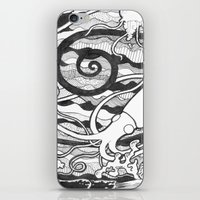 squid iPhone & iPod Skins featuring Squid by LizPalo
