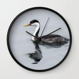 Western Grebe Wall Clock