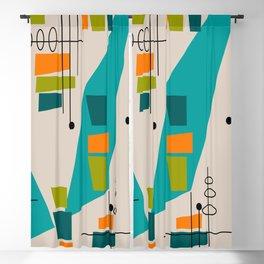 Mid-Century Modern Abstract Blackout Curtain