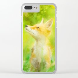 Enchanted Fox Clear iPhone Case