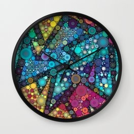 Disco Bubbles Wall Clock