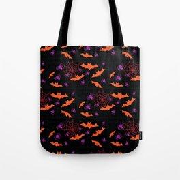 Spider Webs & Bats Tote Bag