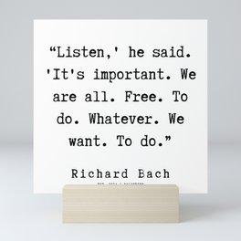 33   | Richard Bach Quotes | 190916 Mini Art Print