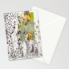 Mother and Child Cheetah Stationery Cards