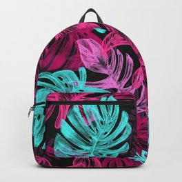 Colourful Jungle Leafes Pattern Backpack