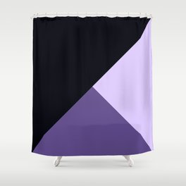 Trinity Color Block Ultra Violet Shower Curtain
