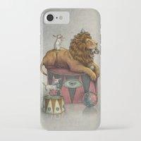 leon iPhone & iPod Cases featuring El Leon by julian de narvaez