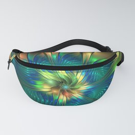 Precious, Colorful Abstract Fractal Art Fantasy Flower Fanny Pack