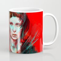 girl Mugs featuring Wasp by Alice X. Zhang