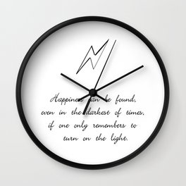 you can find happiness Wall Clock